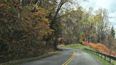 Cover for Teen killed on Blue Ridge Parkway when vehicle leaves road, lands on guardrail, rangers say