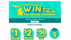 Cover for Michigan COVID vaccine sweepstakes: Here are 6 more $50k daily drawing winners