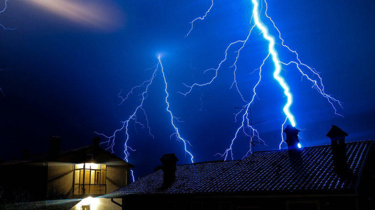 Picture for Small but powerful storms cause lightning damage in OKC metro