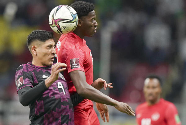 Picture for Osorio's goal lifts Canada into 1-1 tie with Mexico in men's World Cup soccer qualifier