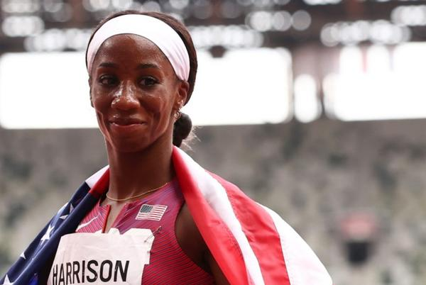 Picture for American Athlete Kendra 'Keni' Harrison Wins a Silver Medal in Women's 100m Hurdles in Olympic Debut