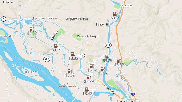 Picture for Paying too much for gas Longview? Analysis shows most expensive station