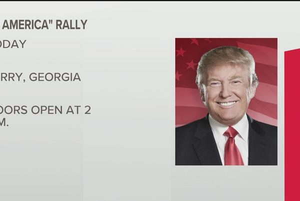 Picture for Trump takes jabs at Gov. Kemp, Raffensperger during 'Save America' rally in central Georgia