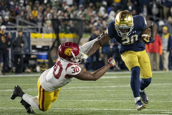 Picture for ND FOOTBALL: No. 13 Fighting Irish win rivalry game over Southern Cal