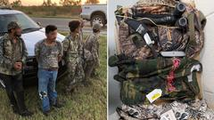 Cover for Illegal migrants wearing camo steal knives from Texas ranch house, attempt to evade arrest: Border Patrol