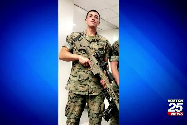 Picture for Marine stabbed while trying to help a woman being attacked