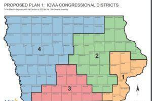 Picture for First Iowa redistricting plan released