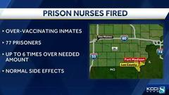 Cover for Iowa prison nurses fired after inmates were over-vaccinated