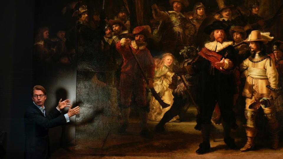 Picture for Rembrandt's huge Night Watch painting made bigger still