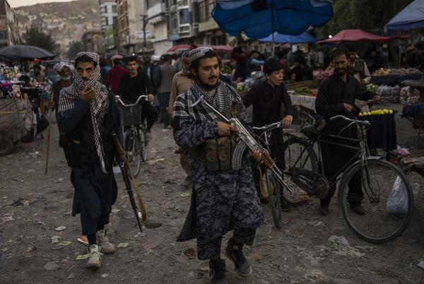 Picture for Taliban hang body of suspected kidnapper in city square