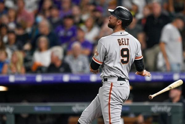 Picture for Belt homers twice, Giants top Rockies to boost NL West lead