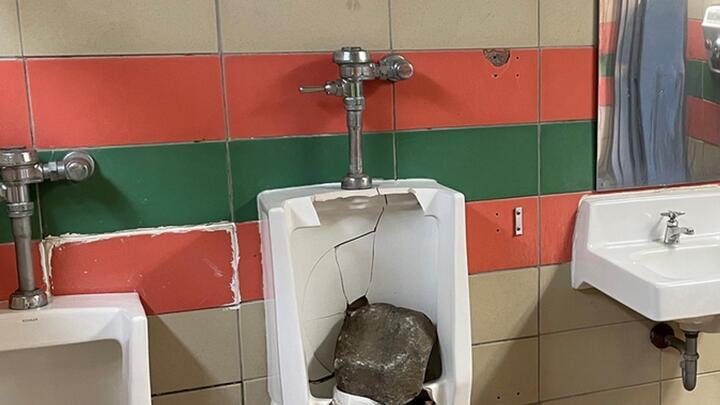Cover for Yankton park bathroom vandalized Wednesday night