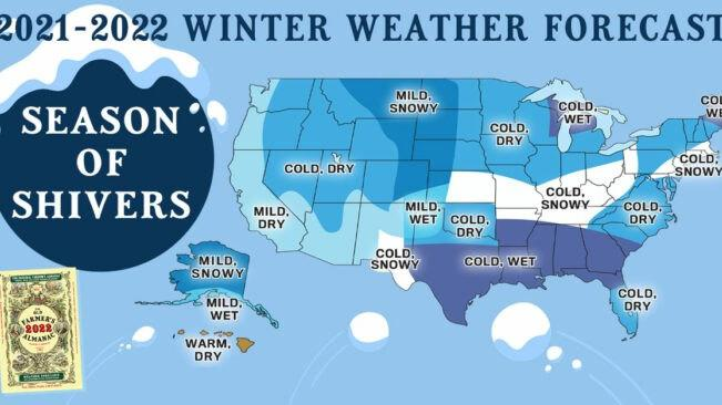 Cover for Get Ready To Bundle Up, The Farmers' Almanac Is Predicting Below Average Temperatures This Winter In Arkansas