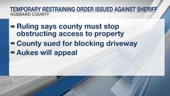Cover for Temporary restraining order issued against Hubbard County sheriff