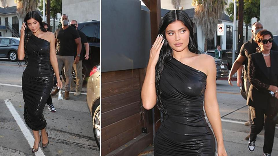 Picture for Kylie Jenner Pairs Shimmery Norma Kamali Bodycon Dress With $795 Gianvito Rossi Plexiglass Pumps For Dinner At Craig's In West Hollywood — Get The Look For Less