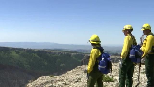 Picture for Crow rookie wildland firefighters sent to front line straight out of training