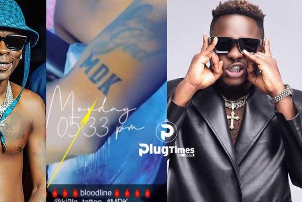 Picture for Shatta Wale idolizes Medikal with a Tattoo on His Arm – SEE VIDEO