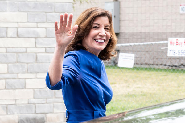 Picture for Kathy Hochul to become New York's first female governor, replacing Andrew Cuomo after his resignation