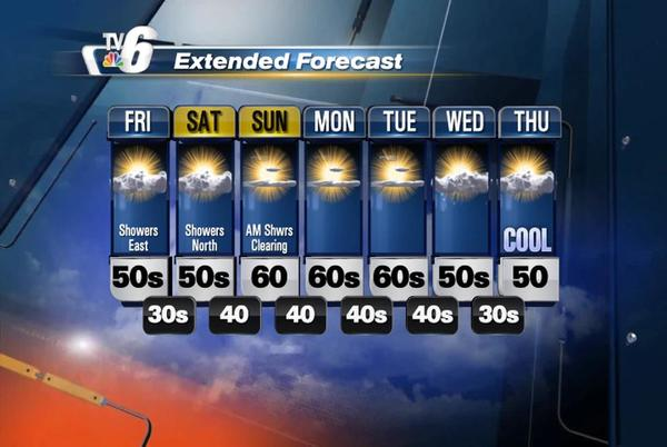 Picture for Cooling down to seasonal temps Friday with a slight chance of PM rain east