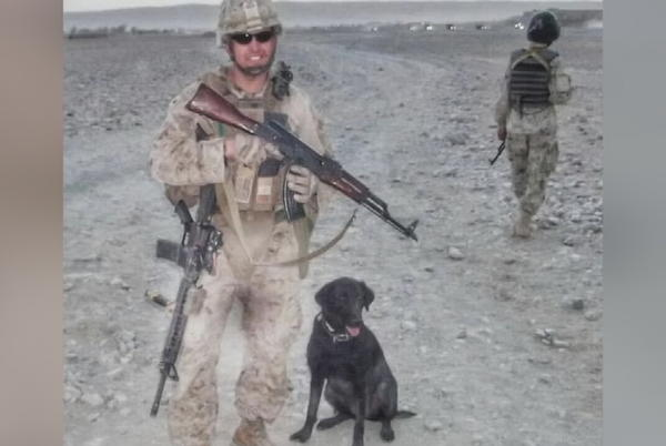 Picture for U.S. Marine Says Goodbye To Service Dog With Community Support