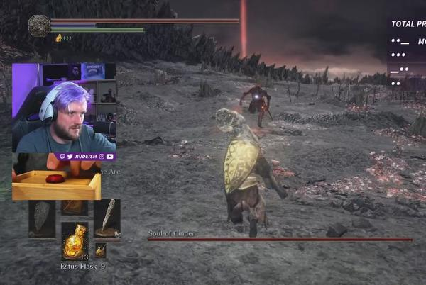 Picture for Twitch streamer beats Dark Souls 3 with a single button