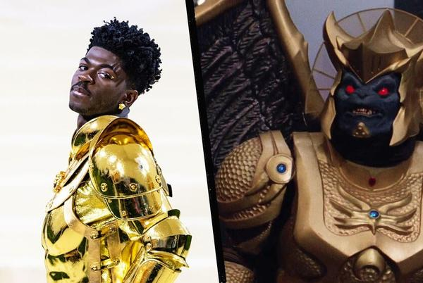 Picture for Lil Nas X Fans Can't Stop Comparing His Met Gala Look to Power Rangers' Goldar