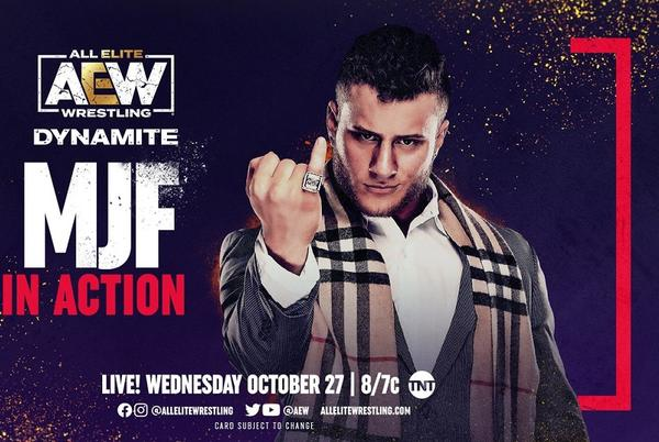 Picture for MJF in action announced for AEW Dynamite