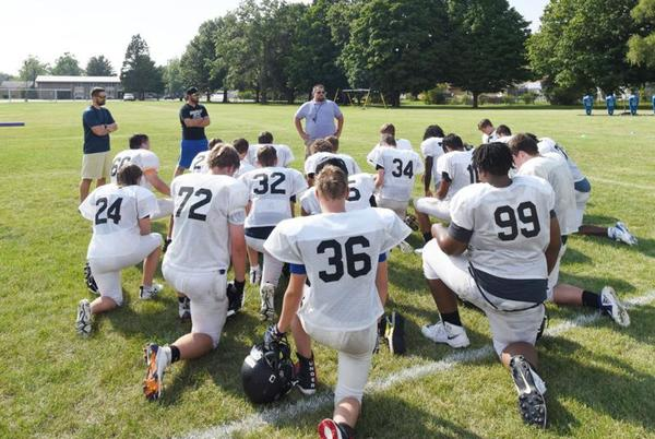 Picture for Catholic, Lutheran, Countryside players working together as Twin City Sharks