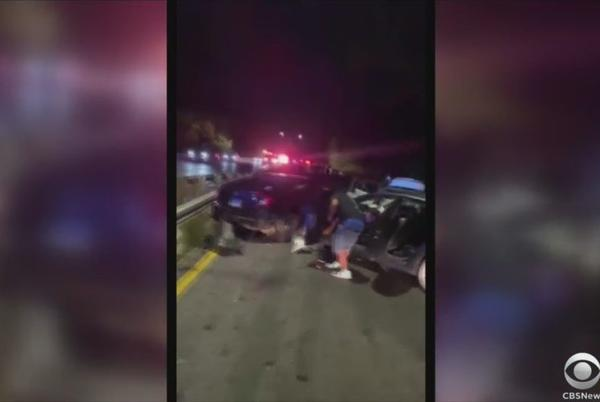 Picture for 15 People Hospitalized After Pileup On Belt Parkway