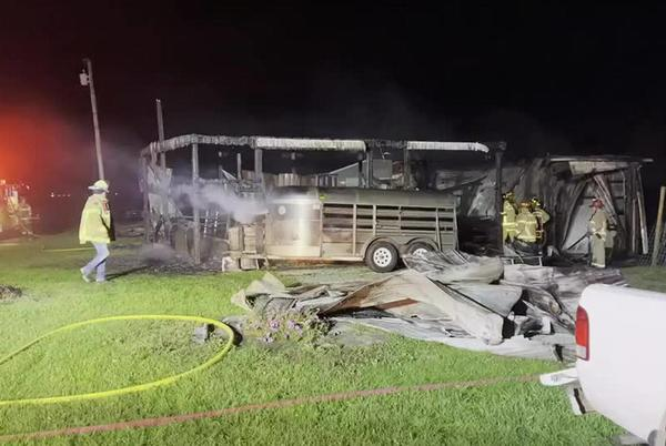 Picture for Barn destroyed after fire in Preble Co.