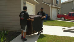 Cover for Mover whose employees were caught dumping unwanted furniture giving back to community
