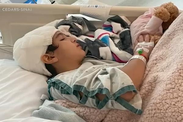 Picture for Girl, 12, reunites with doctors, firefighters who saved her life after swing part went through skull