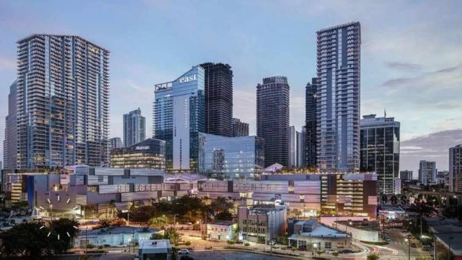 Cover for Miami's most popular 'neighborhood' is compared to Manhattan