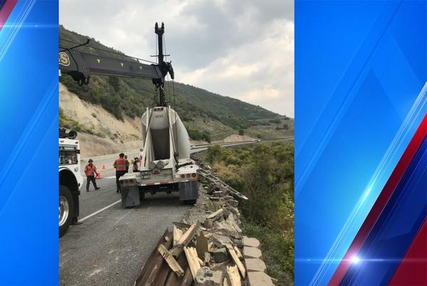 Picture for Semi-truck found overturned in Wasatch County, officials investigating