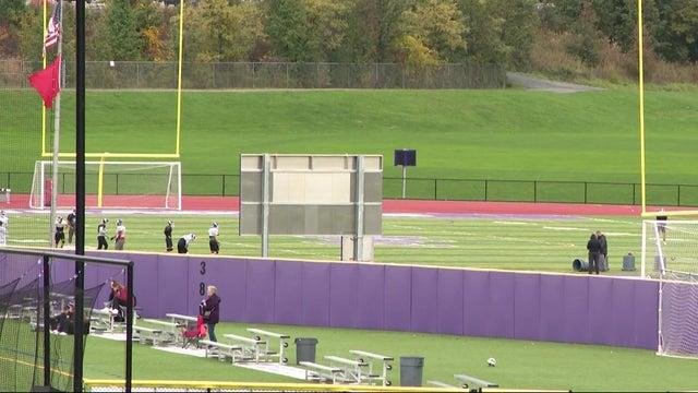 Cover for Monroe–Woodbury Central School District cancels Friday night football after parent's on-field arrest
