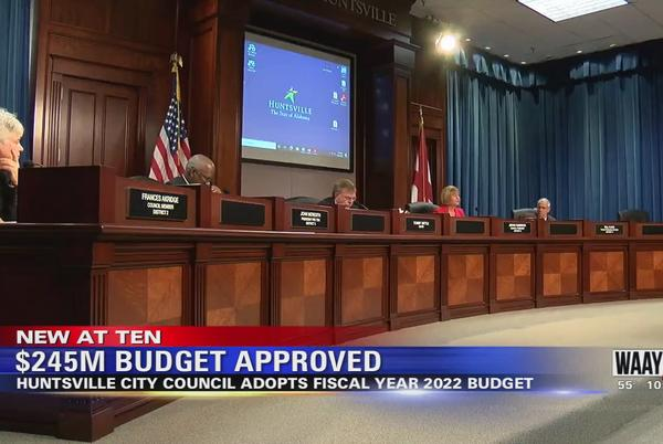 Picture for Huntsville City Council approves $245 million 2022 budget