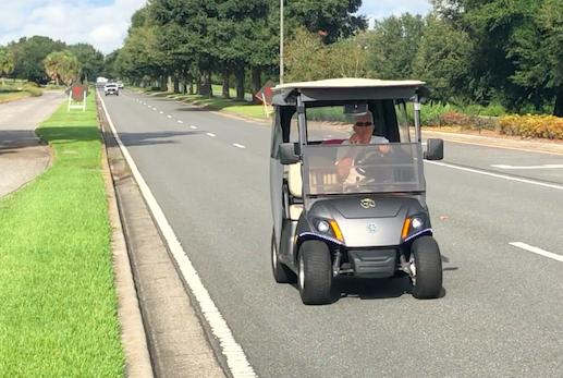 Picture for Misguided golf cart driver takes ride down County Road 466 in The Villages