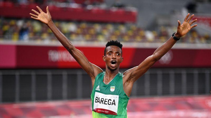 Picture for Olympics-Athletics-Ethiopian Barega wins men's 10,000 metres