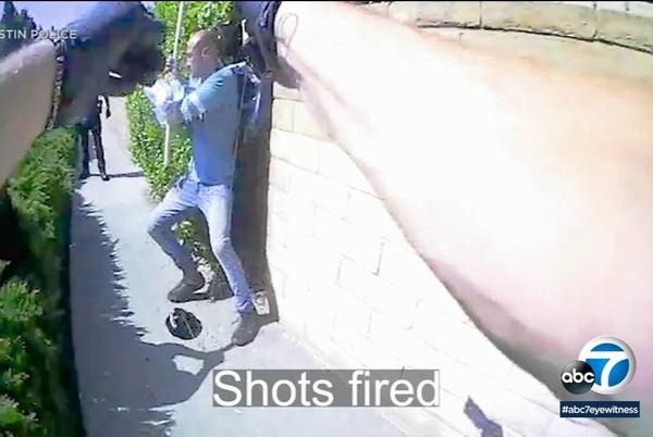 Picture for New bodycam video show how Tustin police officers shot a homeless man