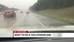 Cover for What to do if you hydroplane