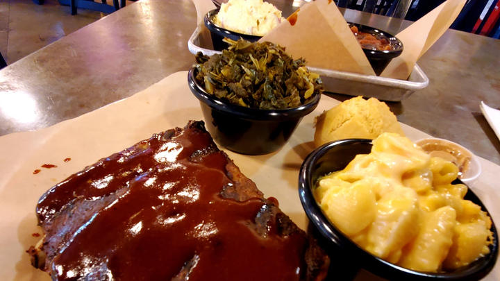 Cover for Smokey Canyon BBQ in Riverside: Ribs & sauce are boss! Let's eat.