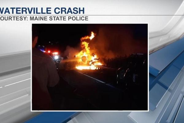 Picture for Accident shuts down I-95 northbound in Waterville for over an hour Tuesday evening