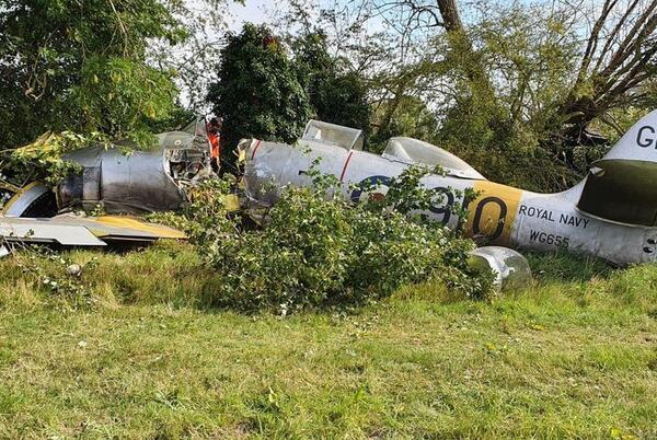 Picture for Hawker Sea Fury crash: Pilot and passenger broke vertebrae