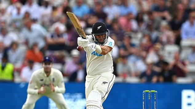 Picture for BUMBLE ON THE TEST: Zak Crawley's been framed as it was a catch all day long.... while Ross Taylor refused to buckle under barrage from Jimmy Anderson and Stuart Broad