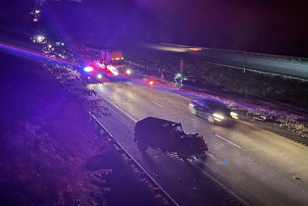 Picture for 1 killed in crash on NB I-65; man died after stopped vehicle was hit by Jeep