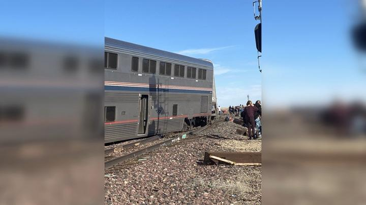 Cover for Three people killed in Amtrak train derailment in Montana