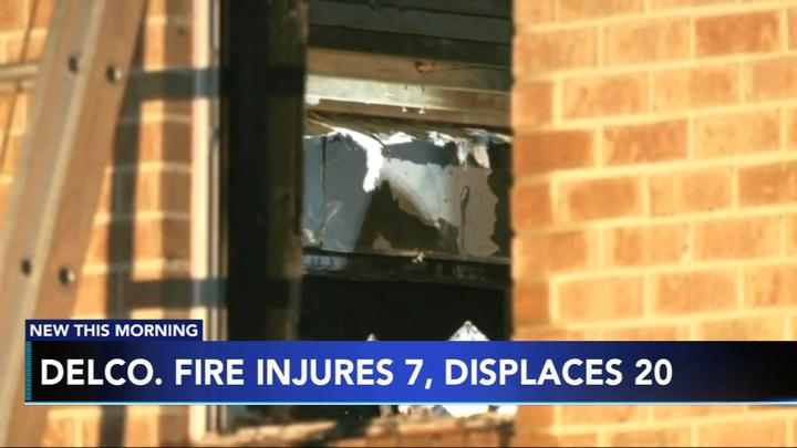 Cover for 7 hospitalized after apartment fire in Delaware County, Pa.