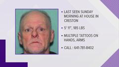 Cover for Iowa Division of Criminal Investigation joins search for missing Creston man