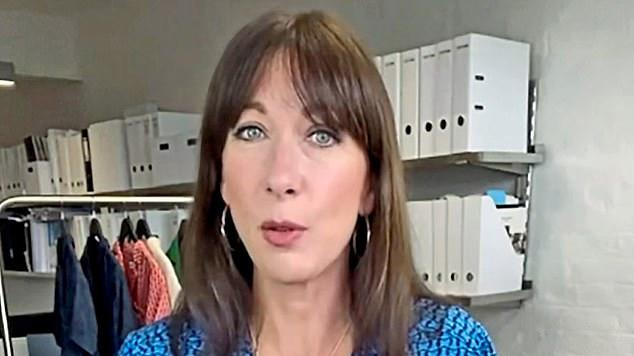 Picture for TALK OF THE TOWN: Samantha Cameron models £370 jumpsuit from her Cefinn brand on Instagram - but some detractors think it looks just like a pair of pyjamas