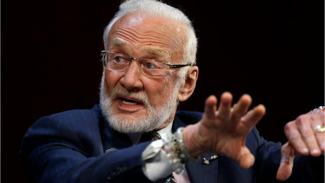 Picture for Fact check: False claim that Buzz Aldrin saw an alien on his trip to the moon